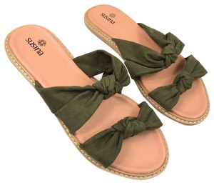 Susina Green/Tan Sandals