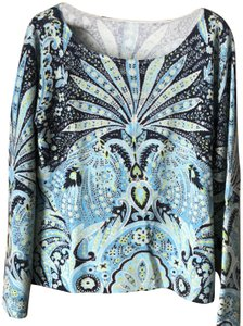 Talbots Cashmere Longsleeve Petite Dry Clean Paisley Sweater