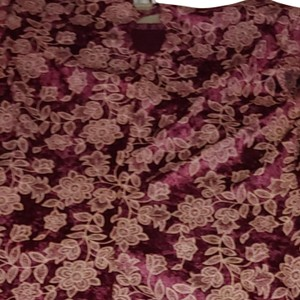 Maroon with beige threading of flowers/ leaves throughout dress. Maxi Dress by No Boundaries