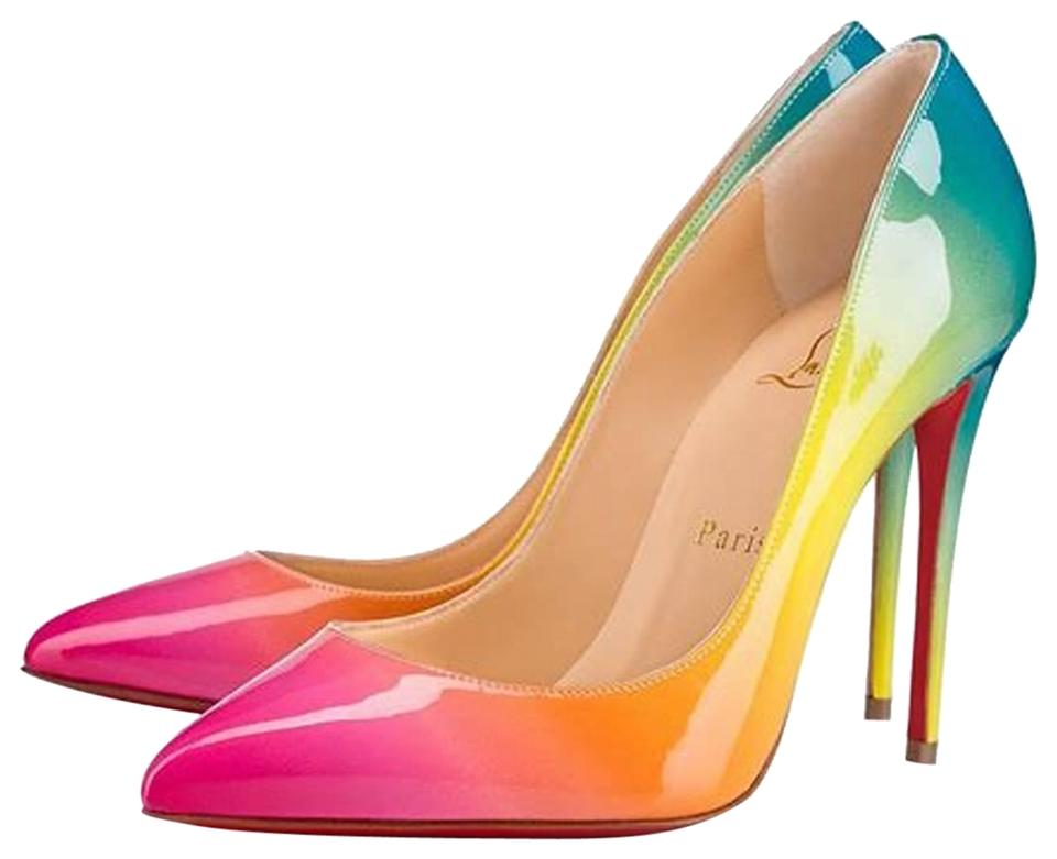 b3a455aceef Christian Louboutin Multicolor Sunrise Limited Edition Pigalle Follies  100mm Patent Leather Rainbow Pumps Size EU 40.5 (Approx. US 10.5) Regular  (M, ...