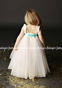 Off White Tulle and Lace Formal Bridesmaid/Mob Dress Size OS (one size)