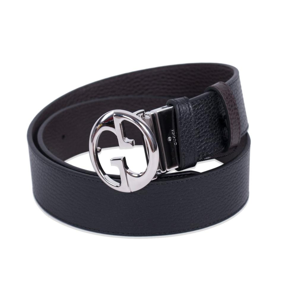 2178c3efeff Gucci Gucci Belt Reversible Black and Navy belt w Gucci logo 449715 size 38  Image 0 ...