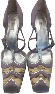 Prada Purple/Silver/Snakeskin Pumps