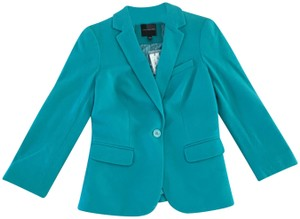 The Limited Modern Fitted Suit Teal Blazer