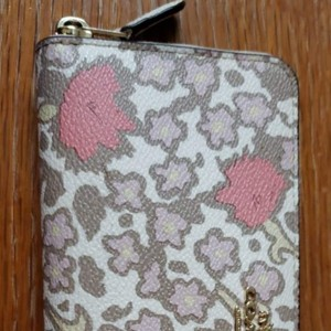 Coach Yankee Floral Print accordion zip long wallet