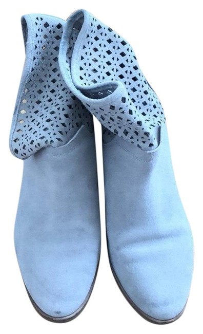 Item - Gray Perforated Suede Boots/Booties Size US 6 Regular (M, B)