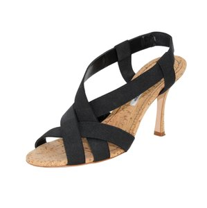 Manolo Blahnik Strappy Black Sandals