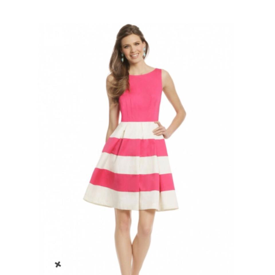 Kate Spade Pink White New York Celine Stripe Short Tail Dress Size 00 S 68 Off Retail