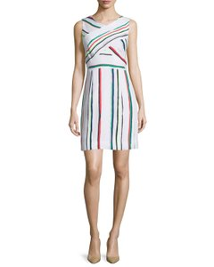 MILLY short dress Multi Color Striped Cotton Blend Resort on Tradesy