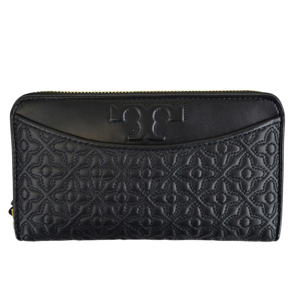 05d2103505e7 Tory Burch Black Bryant Quilted Continental Wallet - Tradesy
