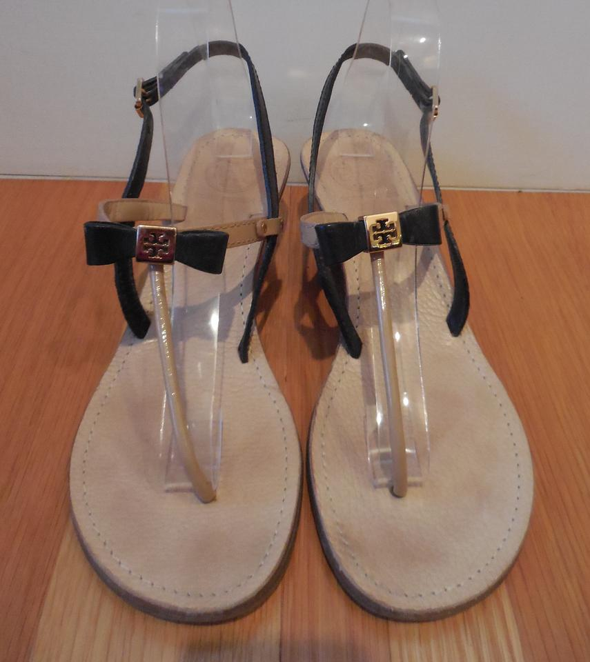 7a2442bc4911 Tory Burch Black and Nude Patent Leather ~ Kailey ~ Box ~ Dustbag ...