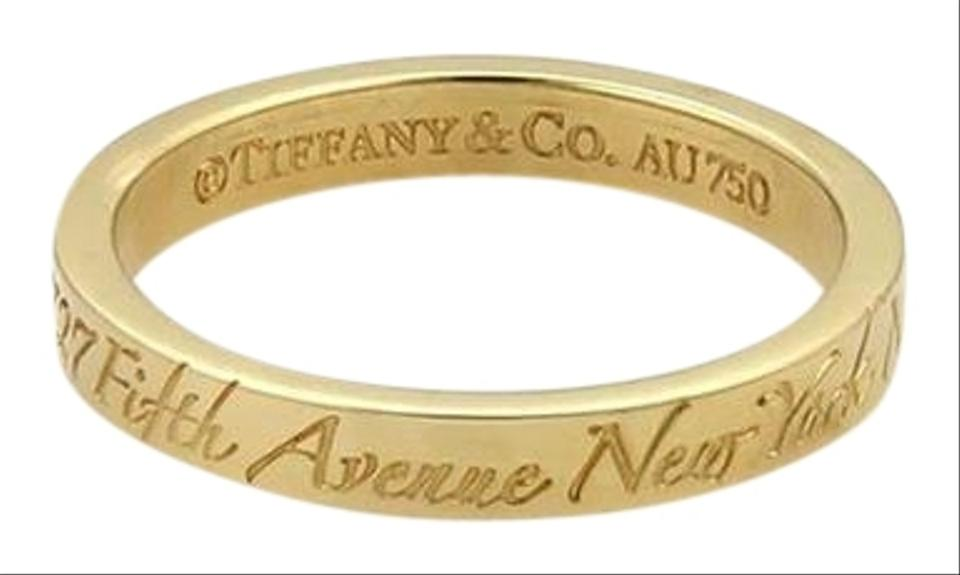 bd68c3e6a4186 Tiffany & Co. Notes 18k Yellow Gold 3mm Wide Wedding Band Ring