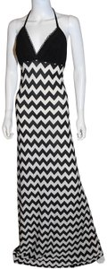 Ivory Black Maxi Dress by Lisa Nieves Maxi Stretch Lycra