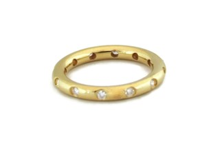 Tiffany & Co. Diamond 18k Yellow Gold 2.5mm Dome Band Ring