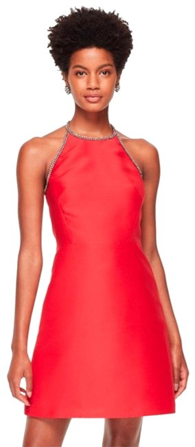 Item - Red New with Tag Embellished Bow A-line Mid-length Cocktail Dress Size 2 (XS)