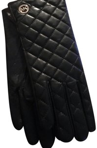 Michael Kors New Michael Kors Black Quilted Ladies Leather Gloves - Size XL - Style 536581