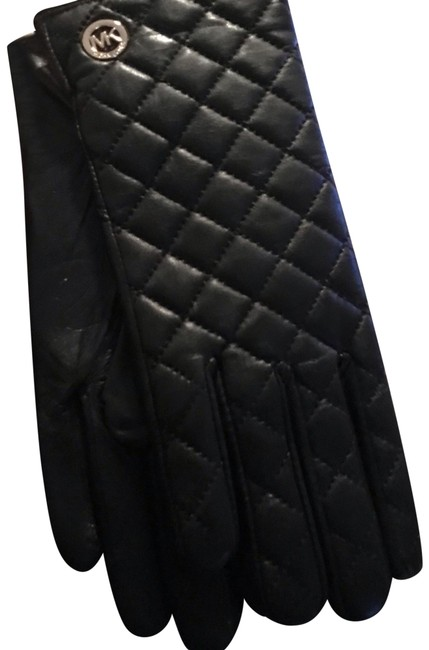 Item - Black XL New Quilted Ladies Leather Gloves - Size - Style 536581
