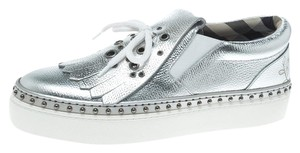Burberry Detail Silver Athletic