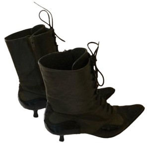 Miu Miu Green & Black Boots