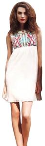 Gryphon short dress multicolor and cream on Tradesy