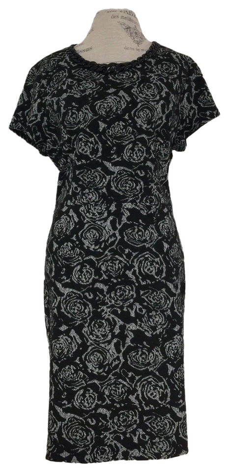 dd0a368524b Karl Lagerfeld Black   White Floral Print Mid-length Work Office ...
