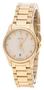 Gucci Gucci Cream Gold Plated Stainless Steel G-Timelss 126.5 Women's Wristw