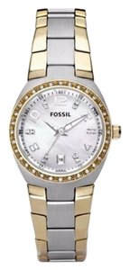 Fossil Two-Tone Colleague Stainless Steel Watch