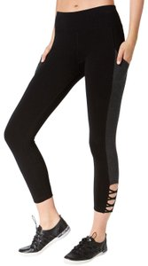 Calvin Klein Calvin Klein Performance Crisscross Cropped Leggings, Black Slate, XS
