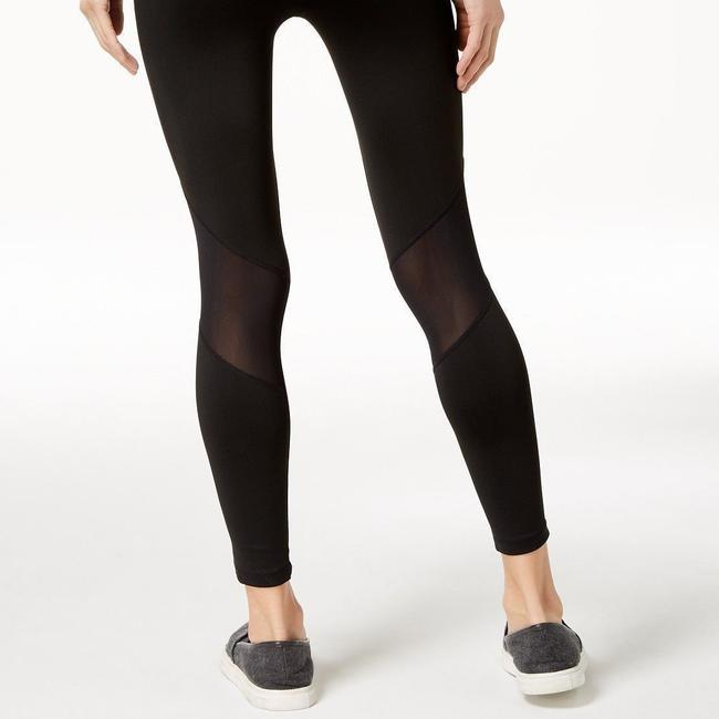 Calvin Klein Calvin Klein Performance High-Rise Mesh-Inset Ankle Leggings, Black, M Image 2