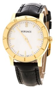 Versace Versace White Mother of Pearl Gold Plated Steel VQA Women's Wristwatch