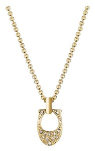Coach NWT COACH Pave Signature Necklace Gold