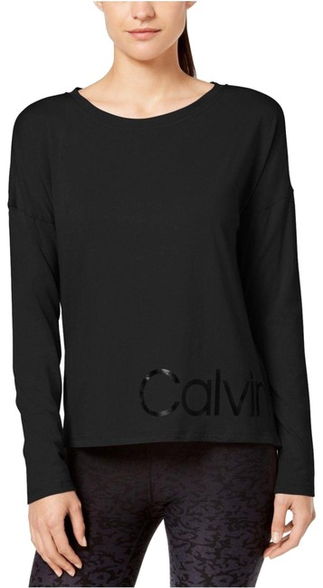Item - Black Women's Performance Logo Relaxed Cropped T-shirt Activewear Top Size 4 (S)
