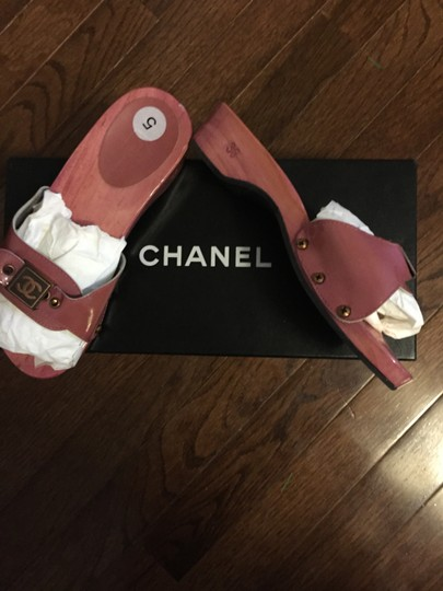 Chanel Hot Pink Mules Image 2