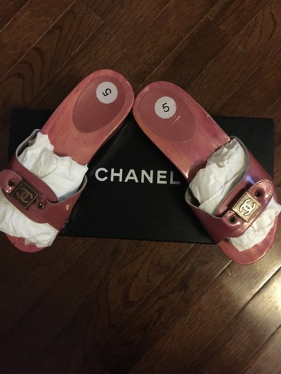 Chanel Hot Pink Mules Image 4