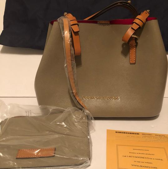 Dooney & Bourke Tote in Taupe/Hot Pink Image 1