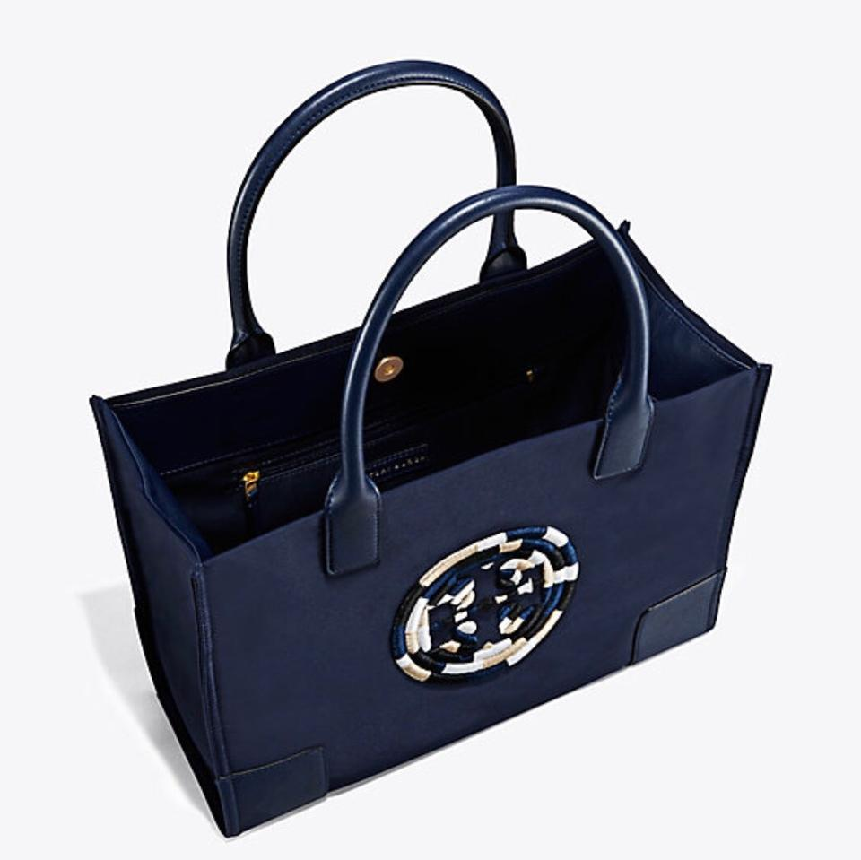2377497ea0a Tory Burch Ella New Rope Mini In French Navy Tote - Tradesy