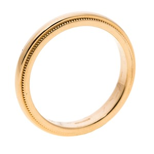 Tiffany & Co. Yellow Gold Classic Milgrain Band Size Ring