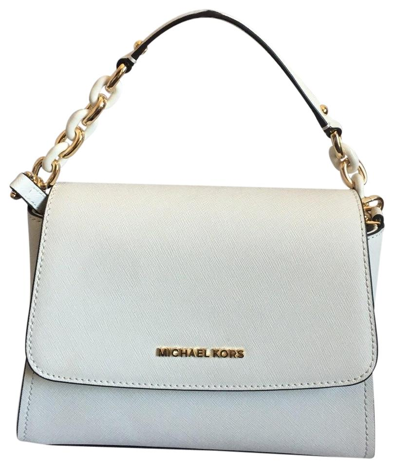 34f58f1b4af5 Michael Kors Sofia Small White Leather Satchel - Tradesy