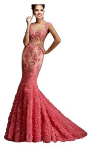 0a816c91ef Janique Red Evening Gown Formal Bridesmaid Mob Dress Size 12 (L ...