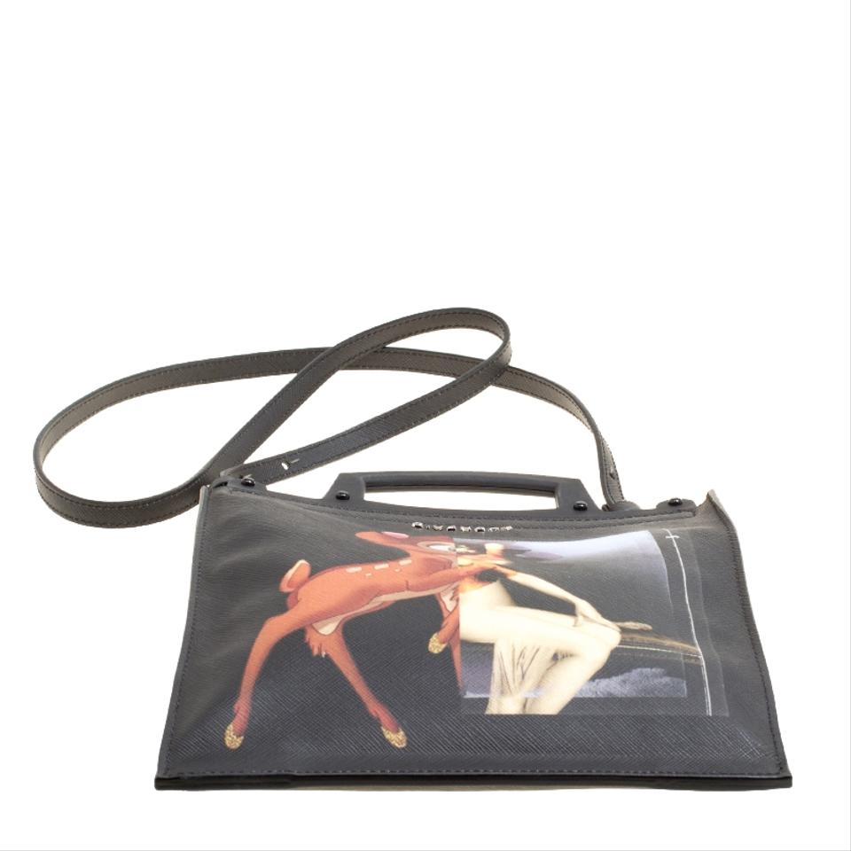 89749217e8ae Givenchy Rave Bambi Black Suede Leather Cross Body Bag - Tradesy