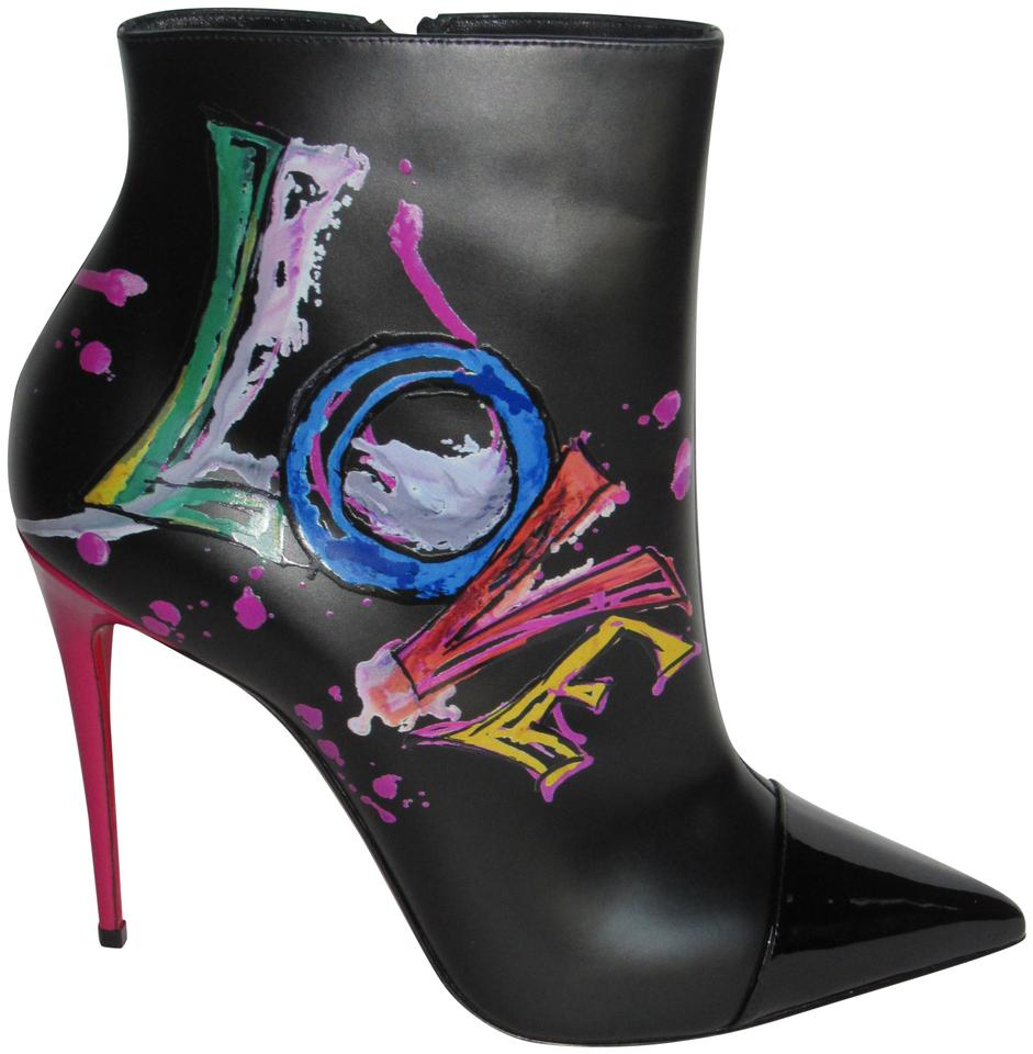 9631763e585a Christian Louboutin Multicolor Love Is A 100 Painted Ankle Boots Booties
