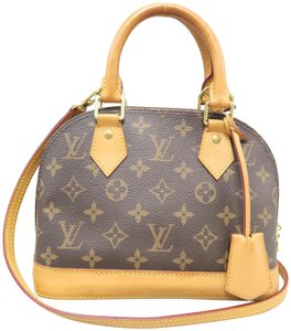 Louis Vuitton Lv Alma Bb Canvas Satchel in brown