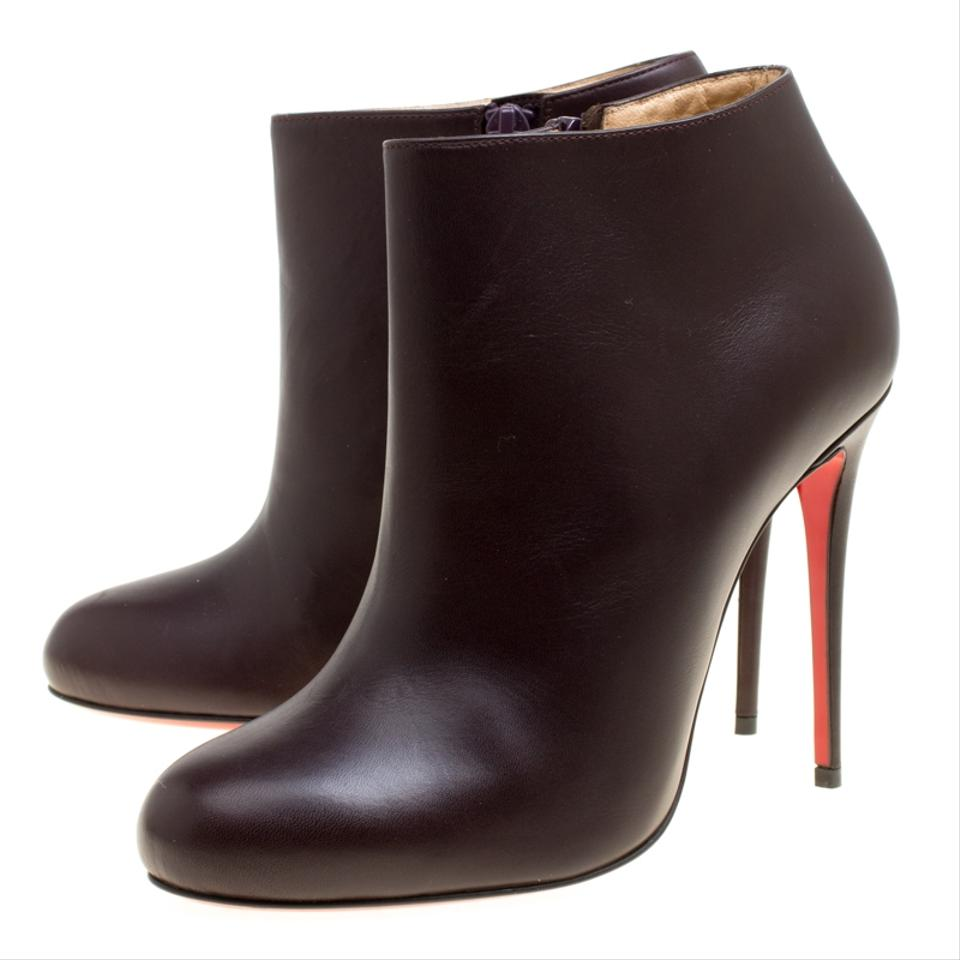 best website 44e07 bca87 Christian Louboutin Brown Dark Leather Belle Ankle Boots/Booties Size EU 37  (Approx. US 7) Regular (M, B)
