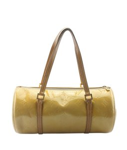 Louis Vuitton Leather Beige Gold-tone Satchel in Yellow