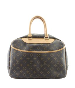 Louis Vuitton Canvas France Gold-tone Satchel in Brown