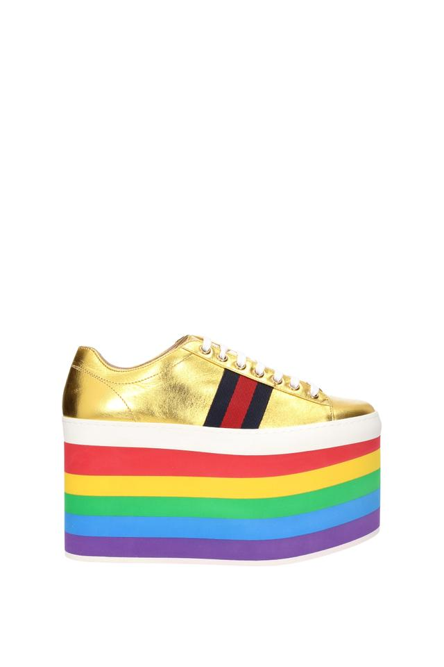 f43d98ac905 Gucci Gold Sneakers Women Sneakers Size EU 37 (Approx. US 7) Regular ...
