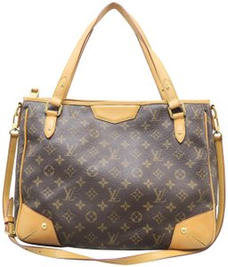 Louis Vuitton Lv Monogram Estrela Mm Canvas Satchel in brown