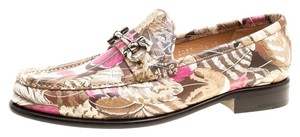 Salvatore Ferragamo Leather Print Multicolor Flats