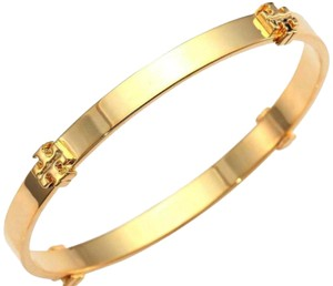 Tory Burch Gold Logo Bangle Bracelet
