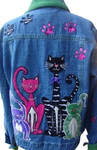 Bleu bayou Vintage Gently Used Womens Jean Jacket